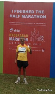 Venkat at finish podium
