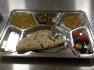The langar food was simple, nutritious and tasty