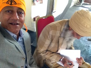Fauja Singh signed all te books very patiently