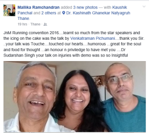 Malika Ramachandran FB Post