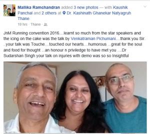 Malika Ramachandran FB Post