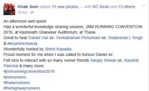 Vivek Soni FB Post