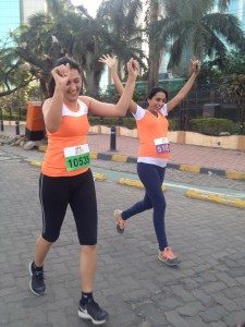 Comrades finisher Vineeta Singh ran the 5K distance even though she is in her 3rd trimester. It will be a healthy baby no doubt.